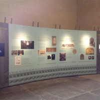 The Exhibition fully installed in Westminster Hall.