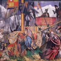 King John confronted by his Barons assembled in force at Runnymede gives unwilling consent to Magna Carta, the foundation of justice and individual freedom in England, 1215, by Charles Sims. Oil on canvas, 1927. © Palace of Westminster Collection, WOA 2602 www.parliament.uk/art
