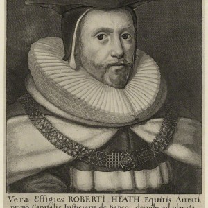 'Vera Effigies Roberti Heath' [A True Portrait of Robert Heath], by Wenceslaus Hollar, 1664. Etching, 29.5 × 20.4 cm. National Portrait Gallery, London, NPG 4499. © National Portrait Gallery.