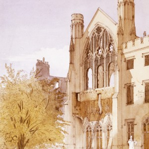Ruined St Stephen's from the East. © Parliamentary Art Collection, WOA 1663