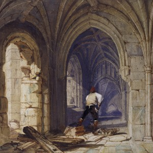 Clearing the Cloister. © Parliamentary Art Collection, WOA 1278