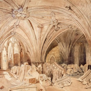 The Lower Chapel Ruins. © Parliamentary Art Collection, WOA 5195