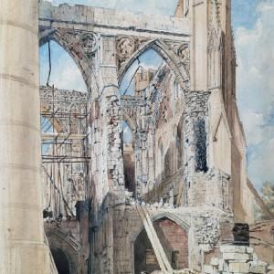 Demolition. © Parliamentary Art Collection, WOA 259