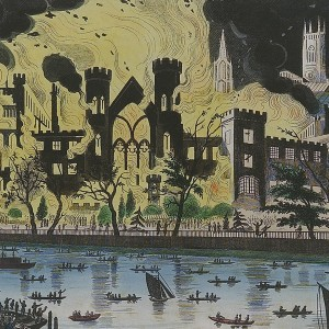 The Fire from the Thames. © Parliamentary Art Collection, WOA 2978a