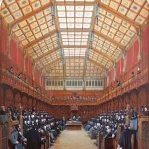 'The House of Commons, 1858', by Joseph Nash, 1858. Bodycolour on paper. Parliamentary Art Collection, Palace of Westminster, WOA 2934. © Parliamentary Art Collection.
