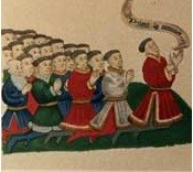 The Speaker and Commons, from the Eton College Charter, 1440.