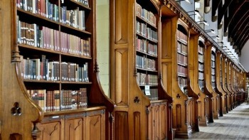 Durham Cathedral Library, interior.
