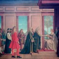 The English and Scottish Commissioners present to Queen Anne at St James's Palace the Articles of Agreement for the Parliamentary Union of the Two Countries, 1707, by Sir Thomas Monnington. Oil on canvas, 1928. © Palace of Westminster Collection, WOA 2599.